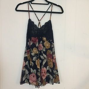 Vs lace floral slip dress